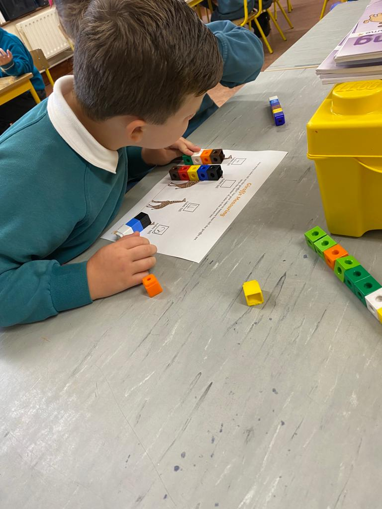 Measuring height using cubes