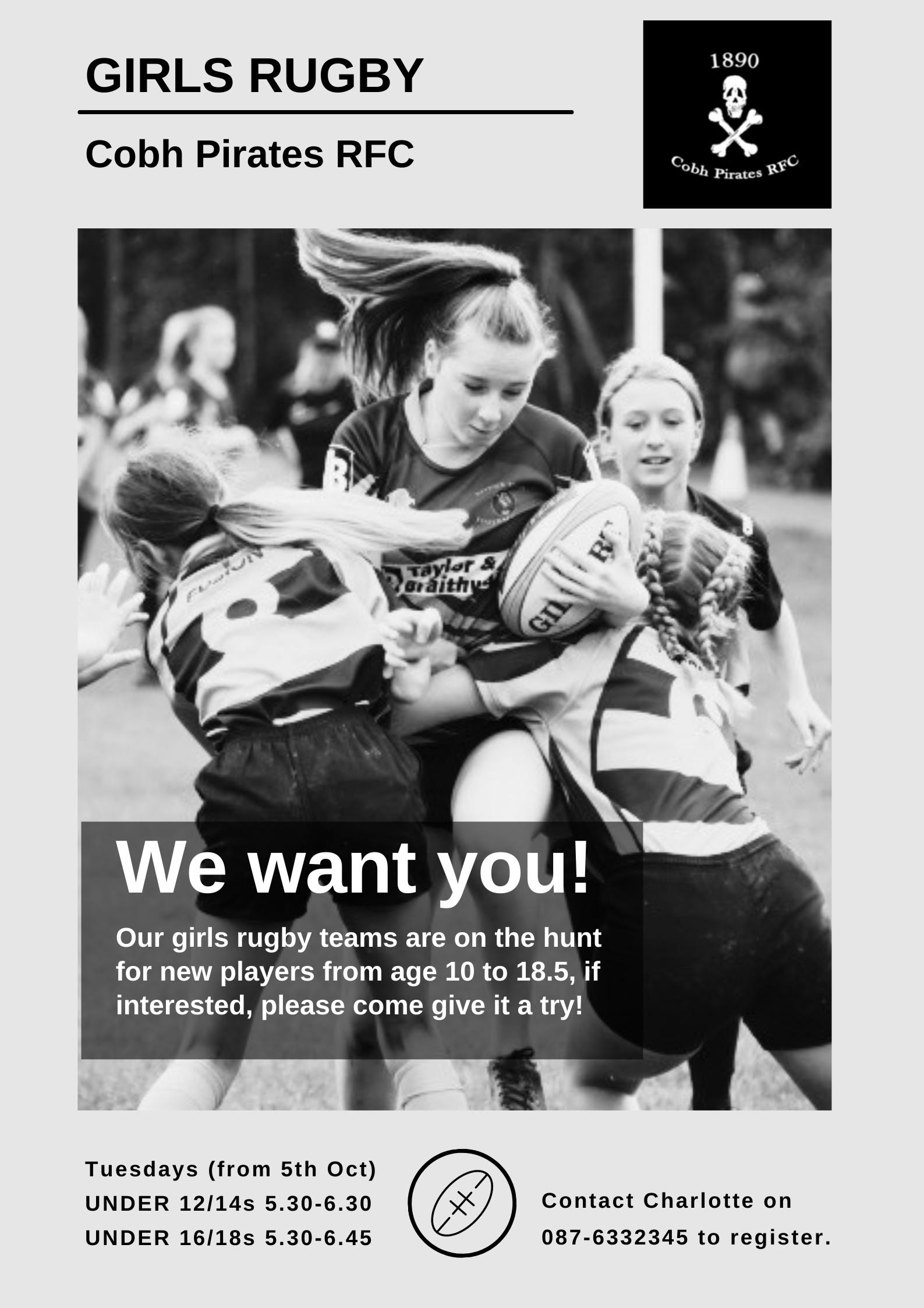 Cobh Pirates RFC – Rugby For Girls